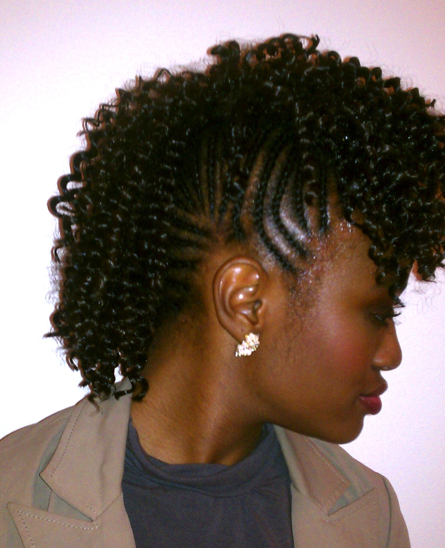 Curly mohawk with cornrows prosperity braids for Salon locks twists tresses