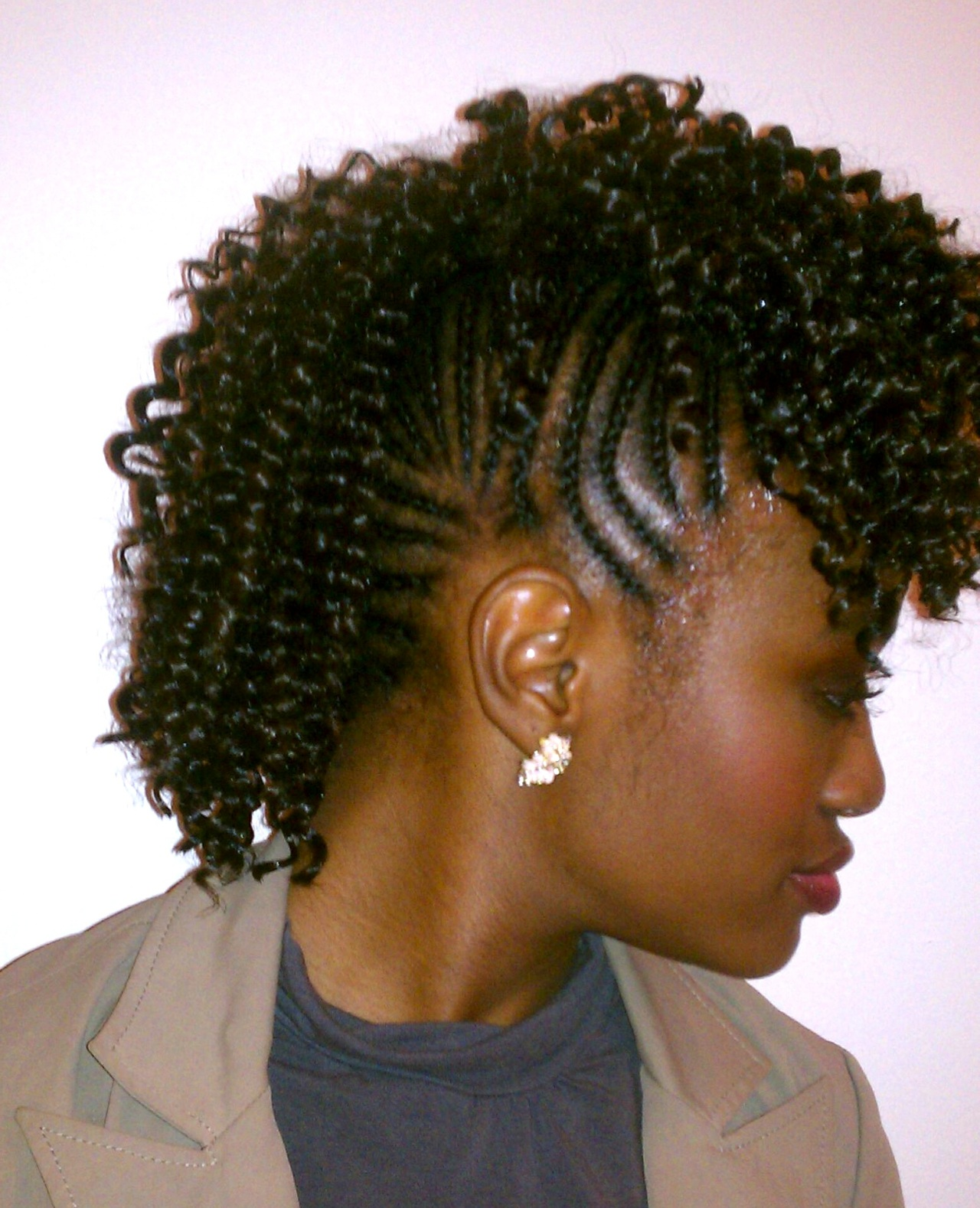 Curly Mohawk with Cornrows | Prosperity Braids